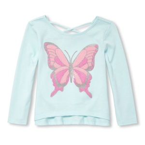 NWT Children's Place Butterfly Shirt Top 2T